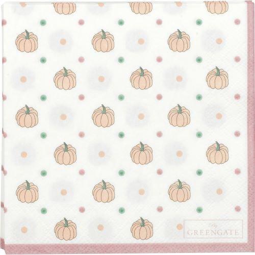 GreenGate_Halloween_Clarissa_white_Paper_napkin