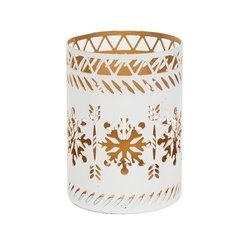 WoodWick Petit Candle Holder White Snowflake