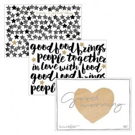 Bastion Collections Placemat Paper Stars 50pc