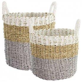 Bastion Collections Storage Basket / Opbergmand Raffia set/2
