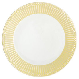 GreenGate Everyday Alice Plate Alice pale yellow D:23cm