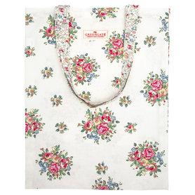 GreenGate Shopper / Bag cotton Franka White 35x45cm