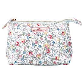 GreenGate Toilettas / Cosmetic bag Vivianne White Small 11x18cm