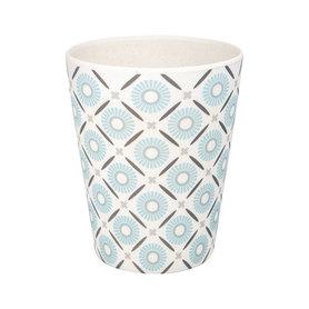 GreenGate Bamboe Beker / Bamboo Cup Alva White H: 9,5cm