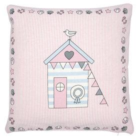 GreenGate Sierkussen / Cushion Ellison Pale Pink pieceprinted 40x40cm