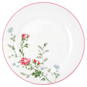 GreenGate Dinerbord / Dinner plate Constance white  D: 25,3cm