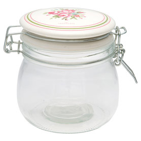 GreenGate Voorraad Pot / Storage Jar Constance White 0,5L