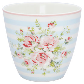 GreenGate Mokje / Latte cup Nellie Pale Blue H: 9cm