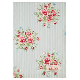 GreenGate Theedoek / Tea towel Nellie Pale Blue 50x70cm