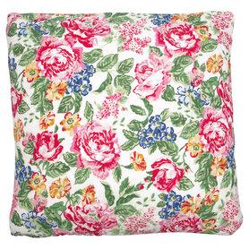 GreenGate Sierkussen / Cushion Emmaline White 50x50cm