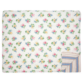 GreenGate Quilt / Bed cover Mira White 140x220cm