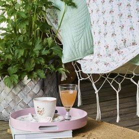 GreenGate Sierkussen / Cushion Sinja White 50x50cm