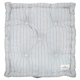 GreenGate Boxkussen /  Box cushion Tova Pale Blue 50x50cm