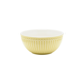 GreenGate Everyday Alice Cereal Bowl Alice Pale Yellow D:14cm