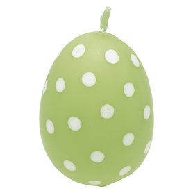 GreenGate Candle Easter egg Spot pale green H: 7cm