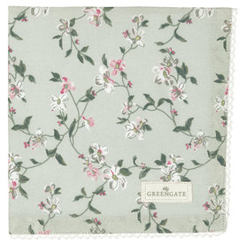 GreenGate Cotton Napkin with lace Jolie pale mint 40x40cm