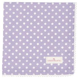 GreenGate Cotton Napkin with lace Spot Lavendar 40x40cm