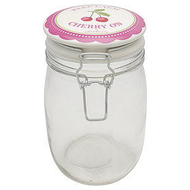 GreenGate Storage jar Cherry berry p. pink 1L