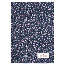 GreenGate Cotton Tablecloth Berta dark blue 150x150cm