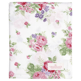 GreenGate Cotton Tablecloth Rose white 145x250cm