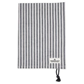 Gate Noir by GreenGate Cotton Tea towel Nynne grey w/rope string GN 50x70cm