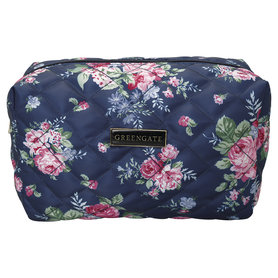 GreenGate Nylon Wash Bag Rose dark blue Large