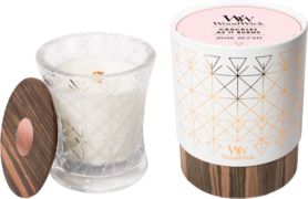 WoodWick® HearthWick® Aura Rose Blush Medium Candle