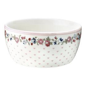 GreenGate Schaaltje Kind / Kids bowl Ruby Petit White D:12,2cm