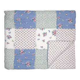 GreenGate Quilt / Bed cover Nicoline white patchwork 140x240