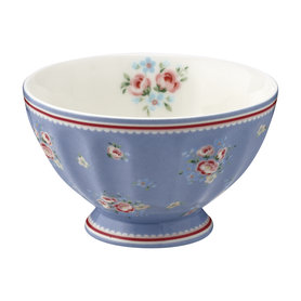 GreenGate Cereal Schaaltje / French bowl medium Nicoline Dusty Blue D:10cm
