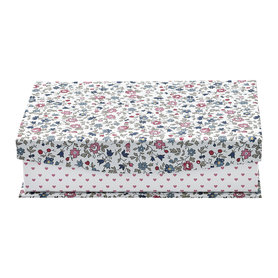 GreenGate Opbergdoos / Storage box Ruby petit white w/divider