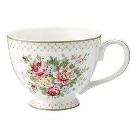 GreenGate Theekop / Teacup Aurelia white H: 9cm