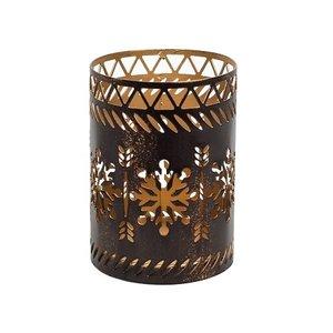WoodWick Petit Candle Holder Bronze Snowflake
