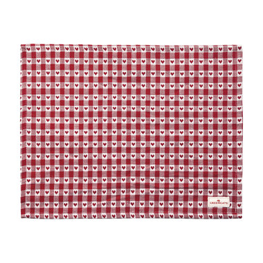 GreenGate Placemat Heart Petit Red 35x45cm