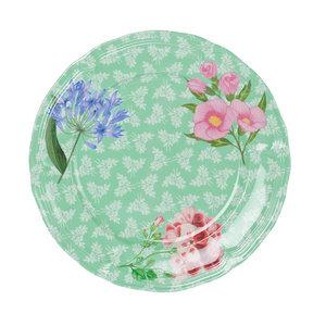 Ginger Lifestyle Melamine Diner bord Sweet Botanical Vintage Green
