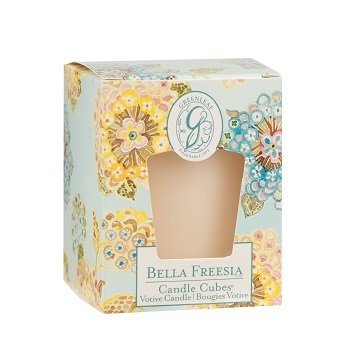 Greenleaf Candle Cube Bella Freesia