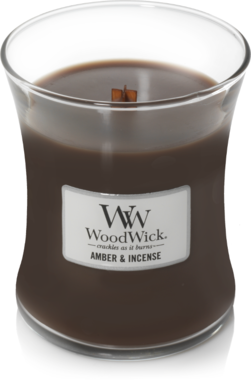 WoodWick® HearthWick® Amber & Incense Geurkaars Medium