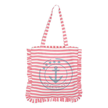 GreenGate Canvas Bag Ditte Pink 39x45cm