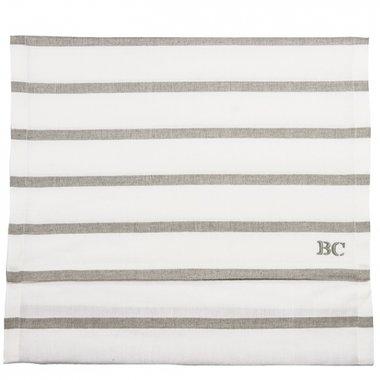 Bastion Collections Tabelrunner / Tafelloper Stripes White/Natural