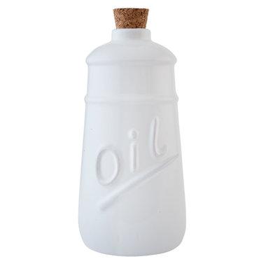 Clayre & Eef | Olie & Azijnstel | Ø 9*19 cm / 2x 0,6 L | wit