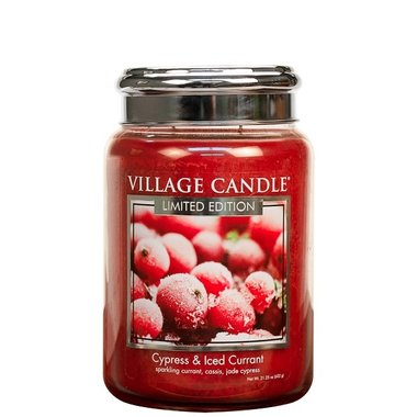 Village Candle Cypress & Iced Currant 737gr Large Candle