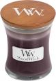 WoodWick® HearthWick® Black Plum & Cognac Mini Candle