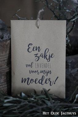 Geurzakje Lavendel met tekst Een zakje vol lavendel voor mijn Moeder