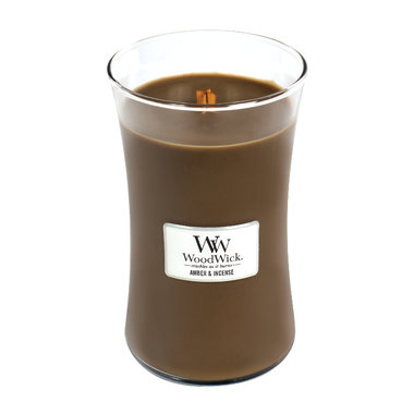Amber & Incense Geurkaars Large WoodWick® HearthWick®