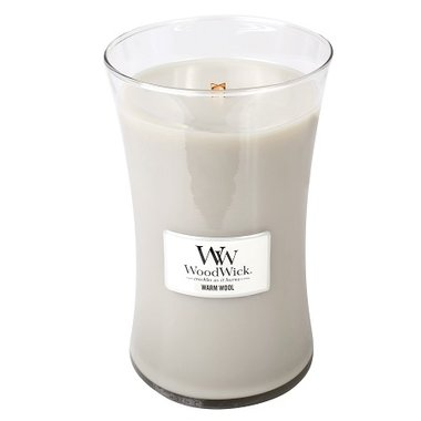 Warm Wool Geurkaars Large WoodWick® HearthWick®
