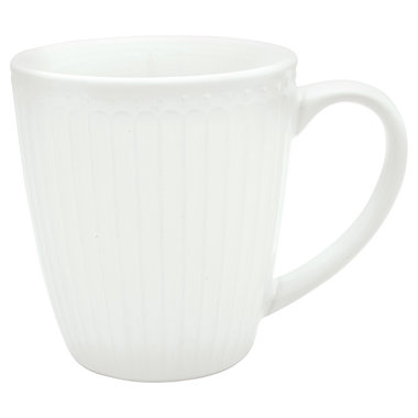 GreenGate Mok / Mug Alice White H: 9,5 cm