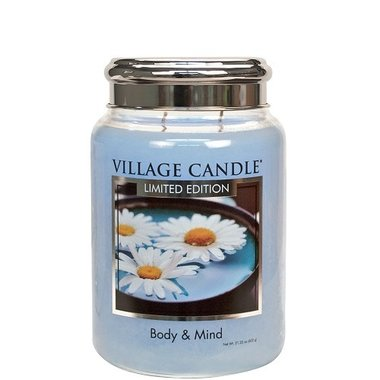 Village Candle Limited Edition Body & Mind Spa Collection 737gr Large Candle