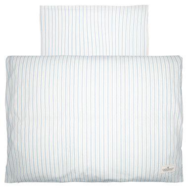 GreenGate Baby Dekbedovertrek / Baby bed linen set Sari Pale Blue 70x100cm