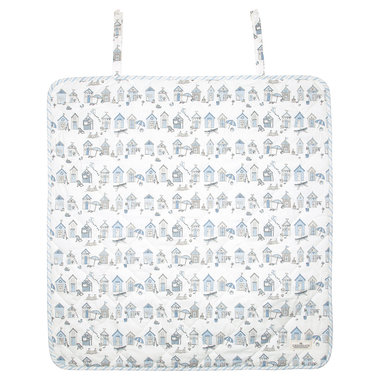 GreenGate Baby changing mat square Ellison pale blue