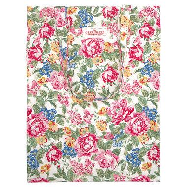 GreenGate Shopper / Bag cotton Emmaline White 35x45cm